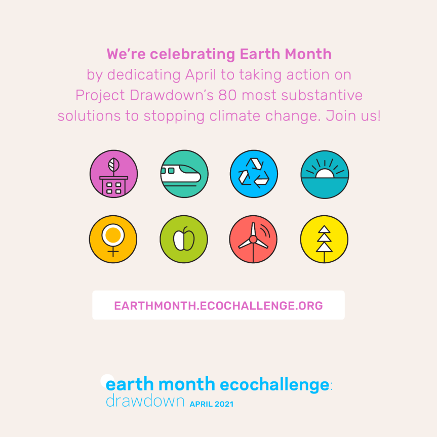 Start your Ecochallenge team for April now